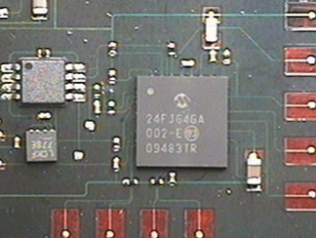 Strain gauge circuit to be embedded in fiberglass.